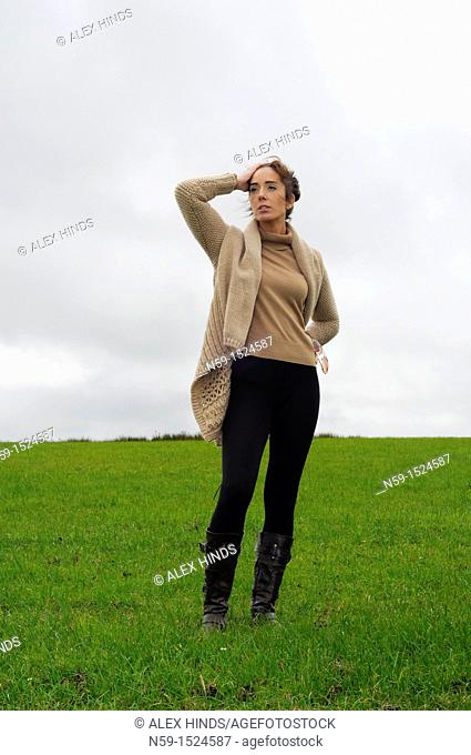 Woman in rural setting
