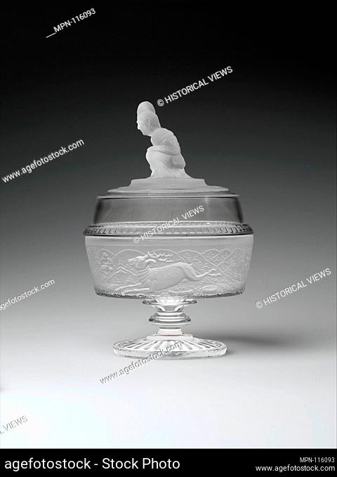 Covered compote. Maker: James Gillinder and Sons (American, 1861-ca. 1930); Date: 1880-90; Geography: Possibly made in Greensburg, Pennsylvania