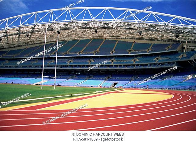 The interior of the main Olympic Stadium at Homebush, Sydney, New South Wales, Australia, Pacific