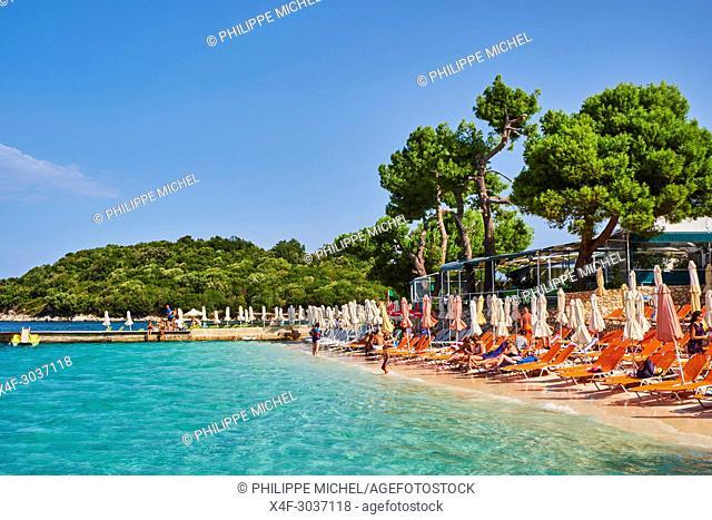 Albania, Vlore province, Ksamil beach