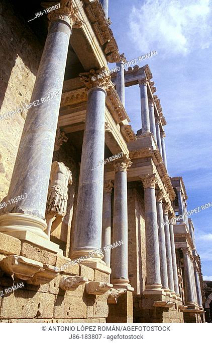 Roman theatre. Merida. Badajoz province. Spain