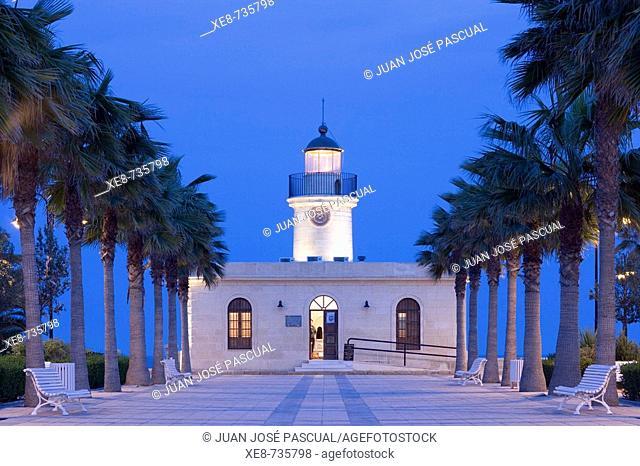Lighthouse, Roquetas de Mar. Almeria province, Andalucia, Spain