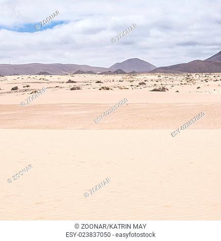 Landscapes with dunes at Corralejo, Fuerteventura