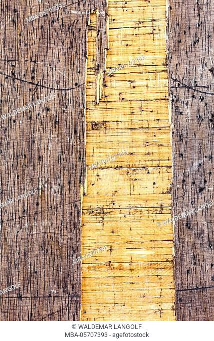 Background motif made of wood