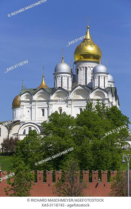 Archangel's Cathedral, Kremlin, UNESCO World Heritage Site, Moscow, Russia