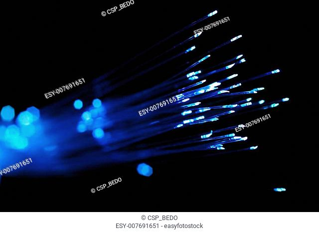 Blue optical fibers