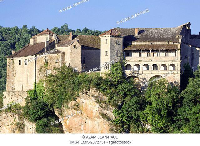 France, Tarn et Garonne, Bruniquel, labelled Les Plus Beaux Villages de France (The Most beautifoul Villages of France), the castles