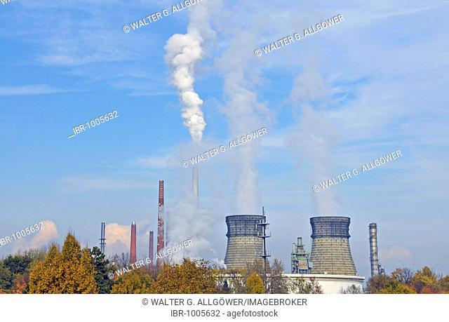 Rheinland Raffinerie-Werk Nord, Shell Germany, oil refinery, Wesseling, North Rhine-Westphalia, Germany, Europe