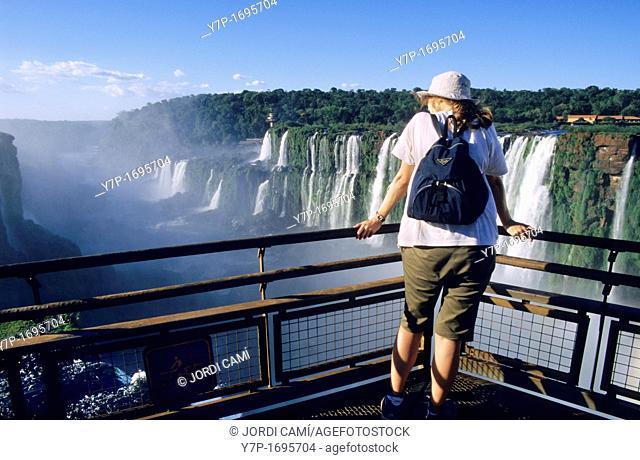 Garganta del Diablo Devil's Throat balcony Iguazu National Park Falls, Misiones province Argentina