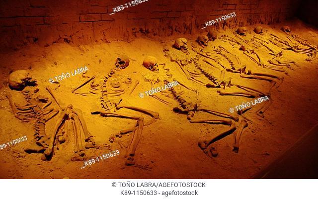 Entierros ceremoniales. Museo de Sitio de Teotihuacán. Mexico