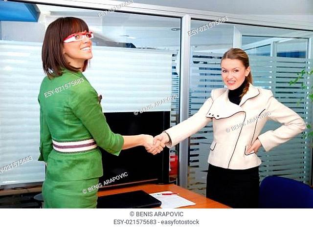 .businesswoman handshake