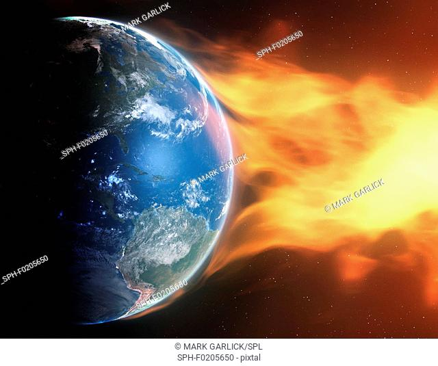 Artwork of Earth and CME