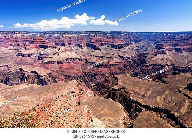 View from the South Rim of Grand Canyon, Arizona, America, USA