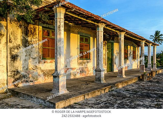 Ibo Island buildings. Mozambique