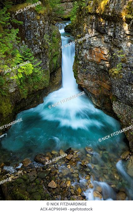 Glacial run off in the aqua waters of Blanket Creek, Blanket Creek Provincial Park, British Columbia, Canada