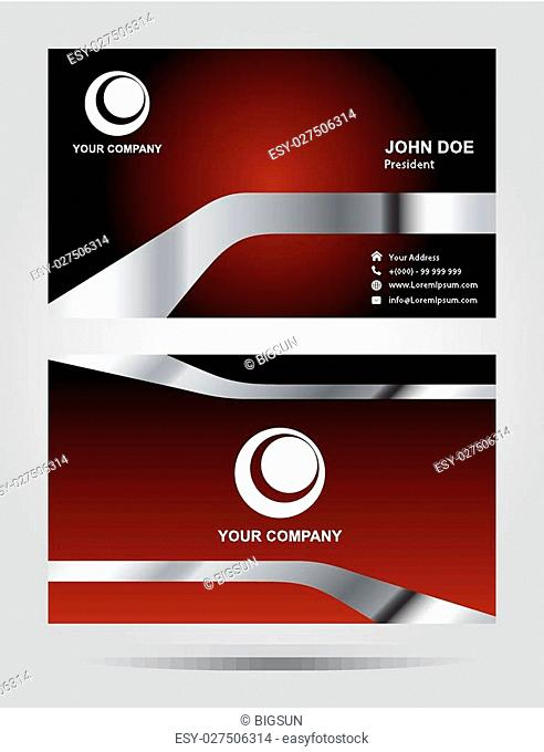 Templates for corporate style business card