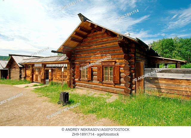 Country wooden estate  'Taltsa's' Talzy - Irkutsk architectural and ethnographic museum  Baikal, Siberia, Russian Federation