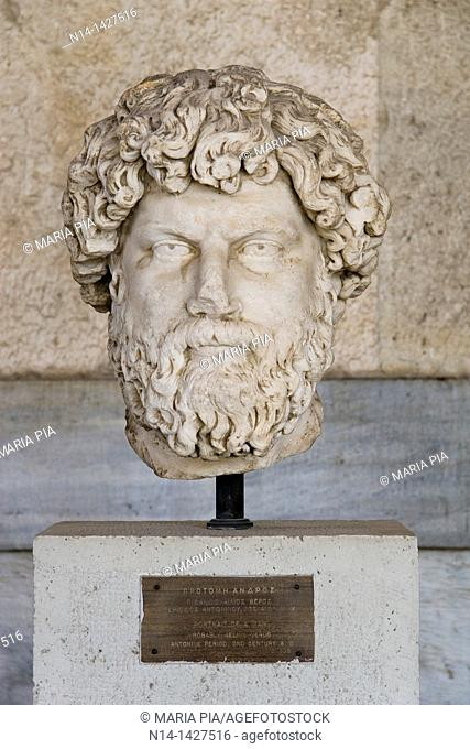 Portrait of a man, probably Aelius Verus, 2nd century AD, Stoa of Attalos, the museum of Ancient Agora, Athens, Greece