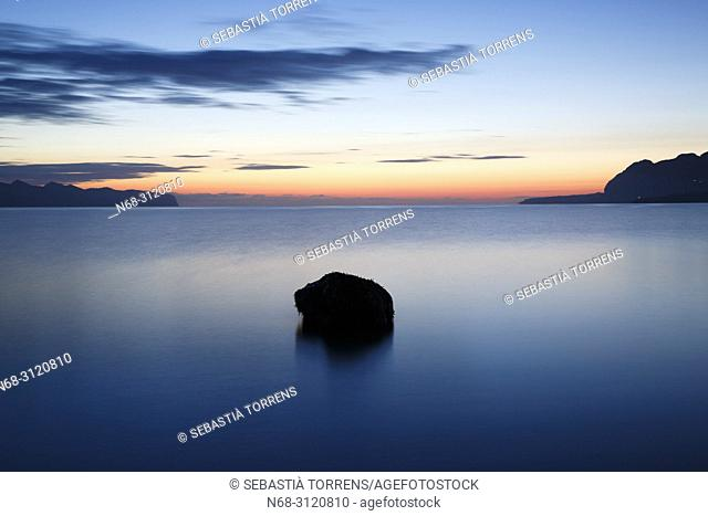 Dawn at Pollensa Bay, Majorca, Balearic Islands, Spain