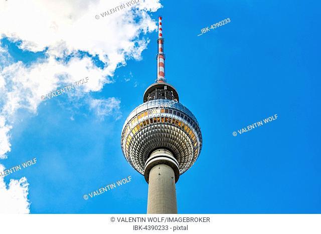 Television tower Alex, Alexanderplatz, Berlin-Mitte, Berlin, Germany
