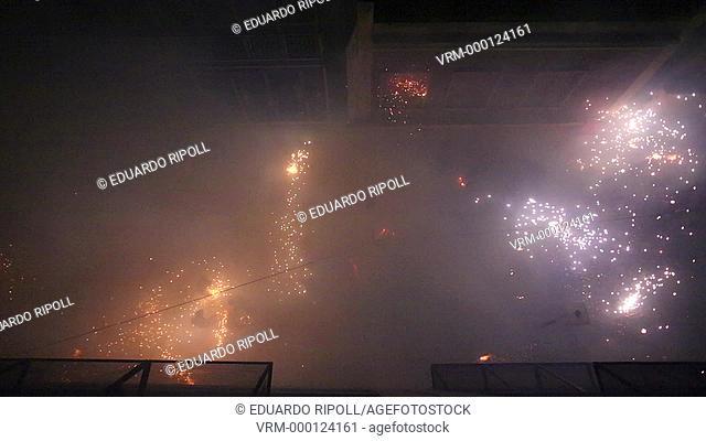 La Corda, fireworks festival in Paterna Valencia