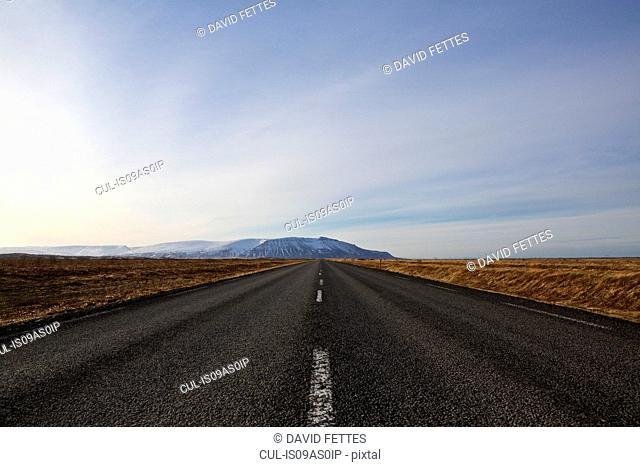 Empty road, Iceland