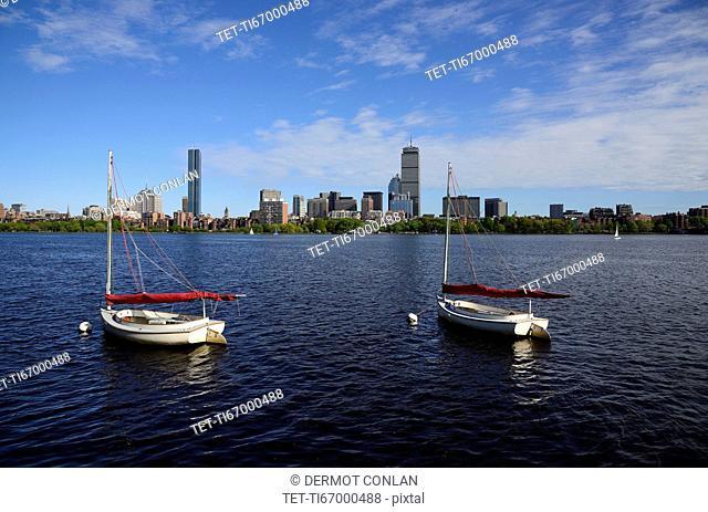 Massachusetts, Boston, Boats on Charles river
