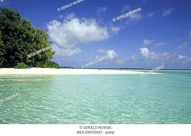 Micronesia, Palau islands, beach