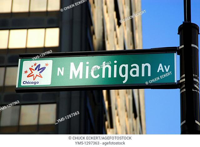 Chicago's infamous Michigan Avenue Street sign