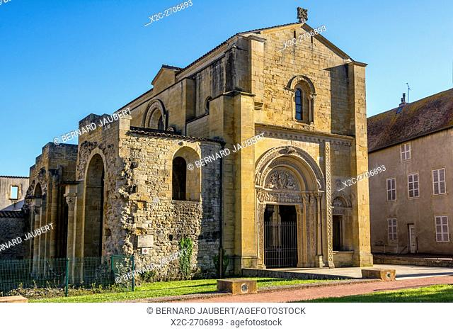 Portal of the Benedictine abbey of Charlieu . Brionnais region. Loire. France