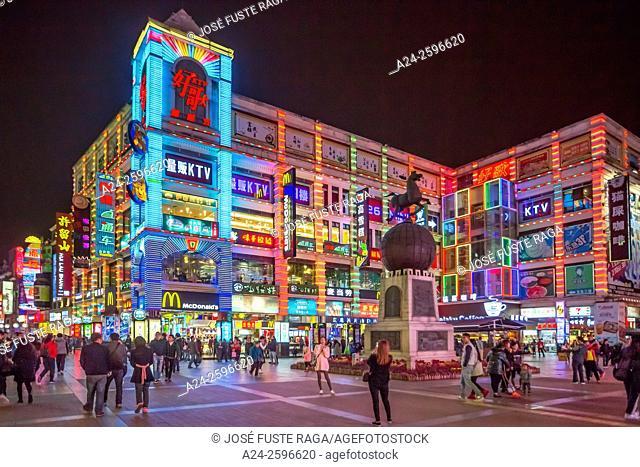 China, Guangdong Province, Guangzhou City, Xiaujiulu Shopping Street