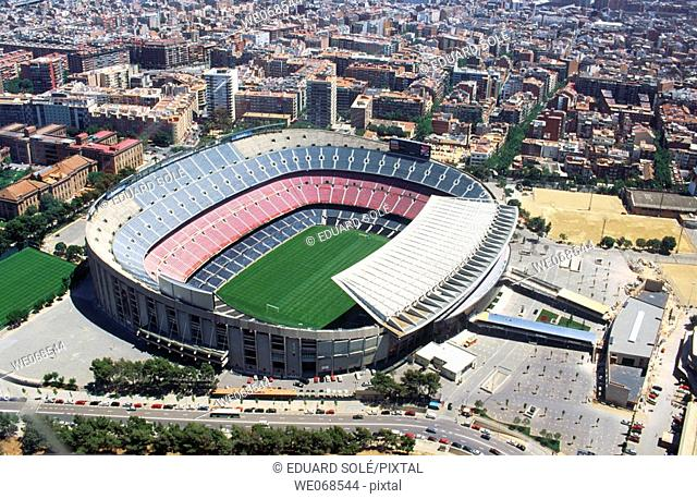 Camp Nou, soccer stadium of F.C. Barcelona. Barcelona. Spain