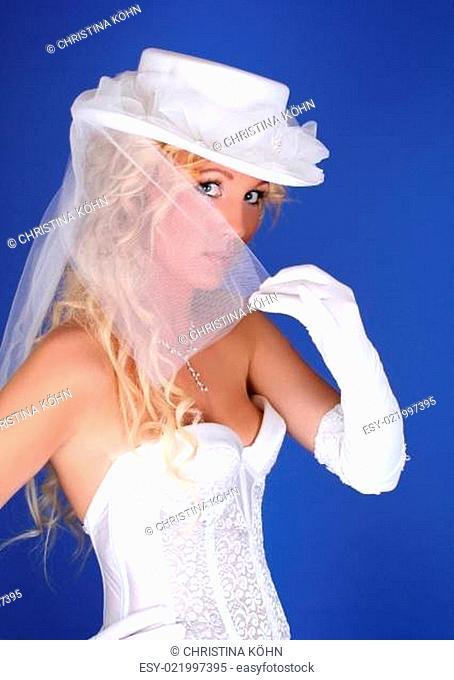 der Schleier einer Braut.