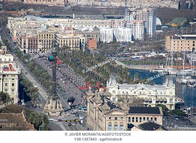 Spain, Barcelona, Views of the port of Barcelona