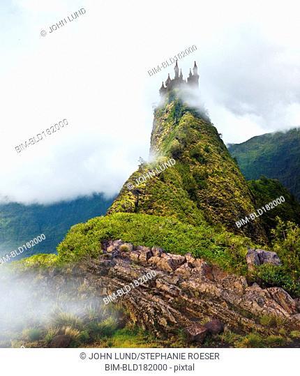 Castle on remote hilltop