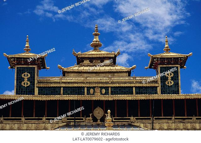 The Samye Monastery or Samye Gompa is the first Buddhist monastery built in Tibet,constructed in approximately 775 AD under the patronage of King Trisong Detsen...