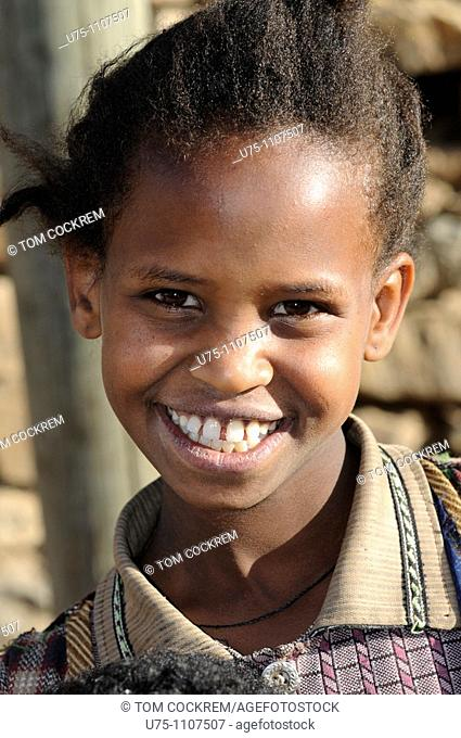 girl in old town axum ethiopia