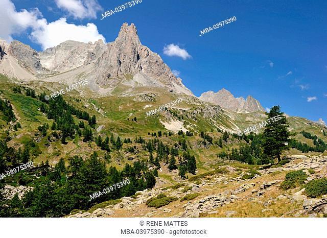 France, Hautes-Alpes, Brianconnais area, the upper valley of La Claree
