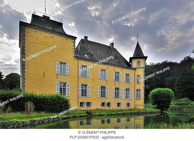 The castle château de Haversin near Ciney in the Belgian Ardennes, Belgium