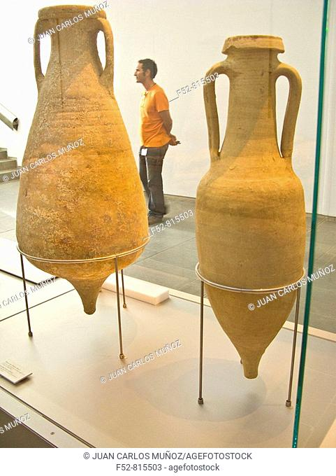 Vessels from the old roman city of Baelo Claudia. Cadiz province, Andalusia, Spain