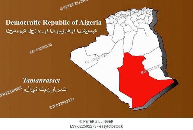 Algerien - Tamanrasset hervorgehoben