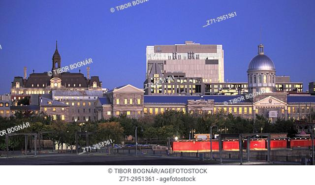 Canada, Quebec, Montreal, City Hall, Bonsecours Market, skyline,