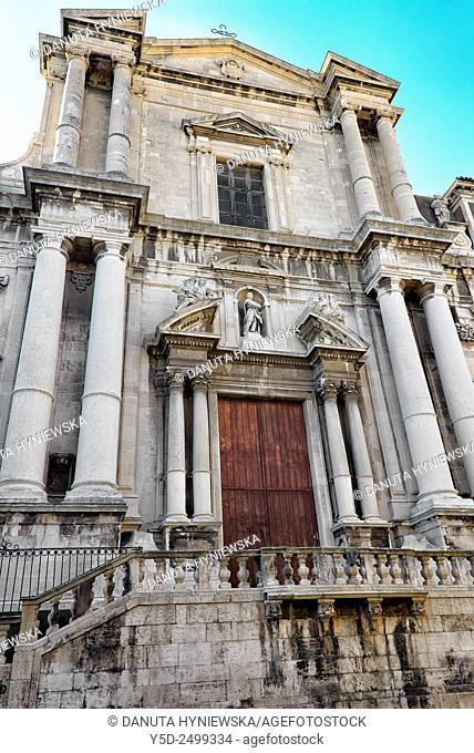 Europe, Italy, Sicily, Catania, old town, Chiesa San Francesco Borgia, previously Chiesa dei Gesuiti, entrance