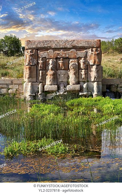 Eflatun P?nar ( Eflatunp?nar) Ancient Hittite relief sculpture monument and sacred pool, and its Hittite relief scultures of Hittite gods