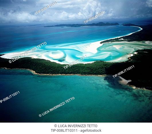 Australia, Queensland, Whitsunday Island, Aerial view