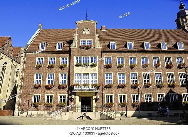 Town hall Coesfeld North Rhine-Westphalia Germany city hall