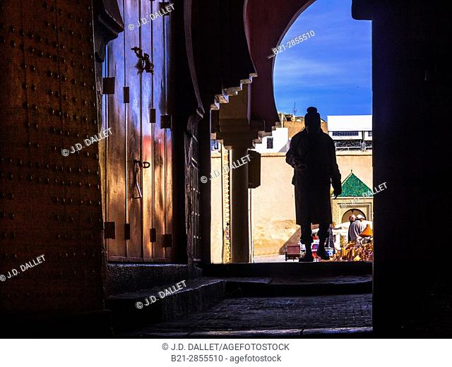 Morocco, Meknes, from the Covered market at Meknes