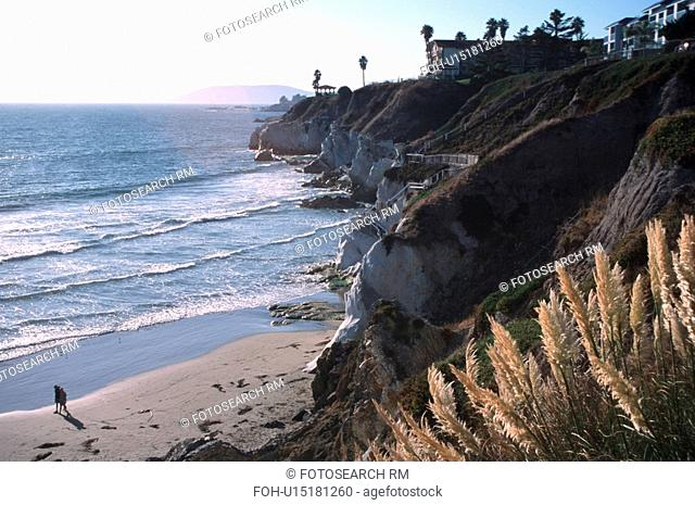 stairway, pismo, cliffs, steep, beach, seashore