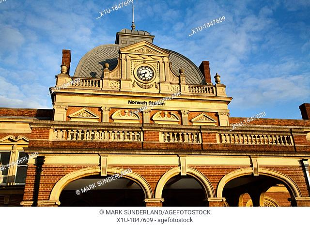 Norwich Railway Station Norwich Norfolk England
