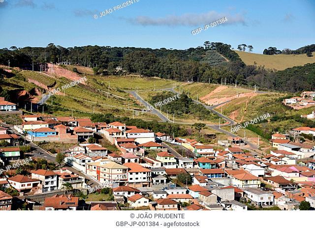 Panoramic view, houses, allotment, city, 2017, Maria da Fe, Minas Gerais, Brazil